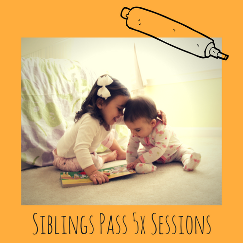 5x Session Sibling Pass - We know that bringing TWO kids can get expensive. Our 'Siblings Pass' allows you the same flexibility of a flexi pass... but you can book in two spots and only pay half price for child number 2. It is also valid for 10 weeks so you don't need to worry if kids are sick and you miss a session.