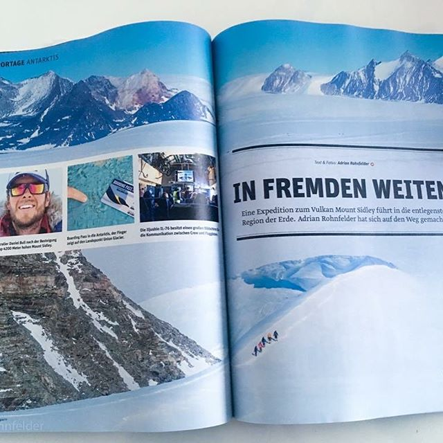 Our exclusive Antarctic expedition featured in the German Outdoor Magazine  #Antarctica #Vinson #Sidley