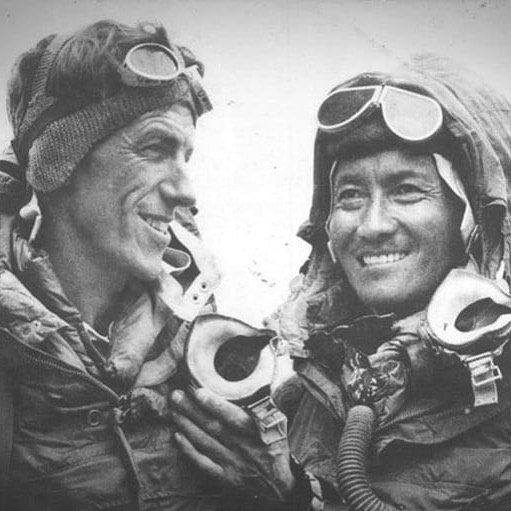 Happy Everest Day everyone! 65 years ago, Tenzing Norgay Sherpa and Sir Edmund Hillary became the first two people to reach the summit of Mount Everest - huge respect! . . . . . . #MountEverest #WorldRecord #Sherpa  #Everest #MtEverest #Mountains #EverestBaseCamp #BaseCamp #Trek #SevenSummits #7summits #Explore #Adventure #Climb #Climbing #Trekking #Travel #Mountaineering #Youngest #Altitude #Hike #Himalayas #LifeGoals #travelwithme #thinair #edmundhillary #tenzingnorgay