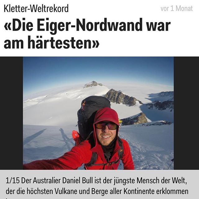 One for the German speakers out there 👍🏅🏔 . . . . . #WorldRecord #GuinnessWorldRecord #Mountains #SevenSummits #7summits #Explore #Adventure #Climbing #Eiger #eigernordwand #MountEverest #Everest #MtEverest #EverestBaseCamp #Trek #Adventure #Climb #Climbing #Trekking #Travel #Mountaineering #Altitude #Hike #LifeGoals #travelwithme #unstoppable #unstoppabull