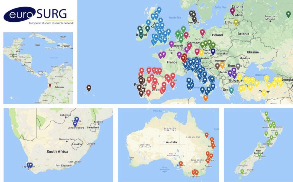 Worldwide locations of the contributing sites for the IMAGINE trial