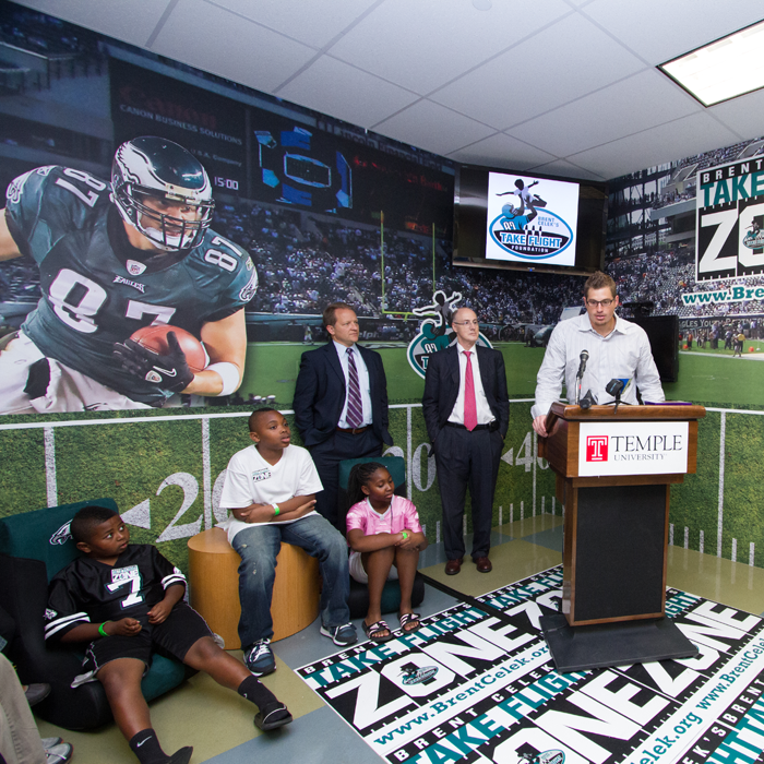 Take Flight Foundation -  Brent Celek has created Take Flight Zones to brighten the day of every child at children's hospitals and schools in PhiladelphiaGet on the field and join Team Celek Today