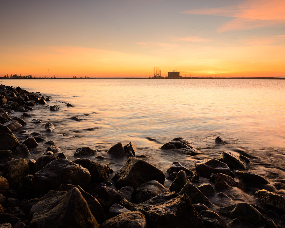 Tranquility - Sunset at the South Gare.jpg
