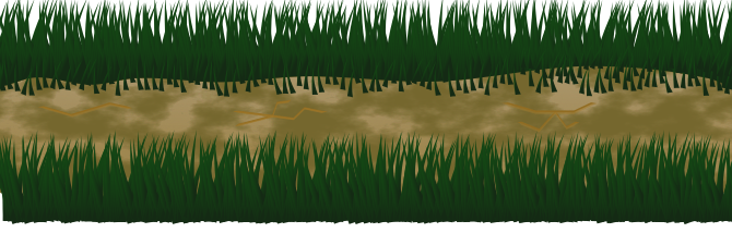 The forest floor path, the grass is made using tiled clones. The path itself is just a shape using noise to add texture.
