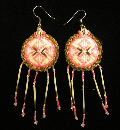 and beads quills img braided sweetgrass glass earrings handcrafted store