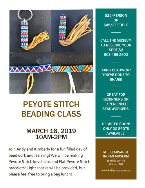 Peyote Stitch Beading Class