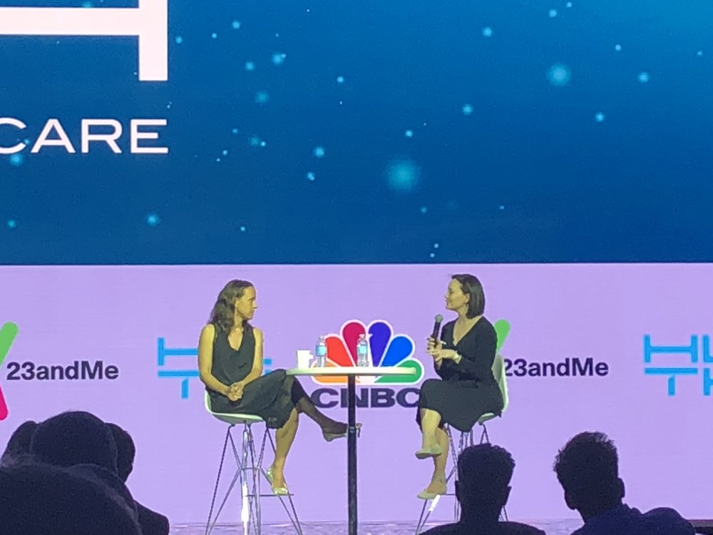 Meg Tirrell  (CNBC) interviews  anne WOJCIcki  (Co-Founder/CEO, 23andme)