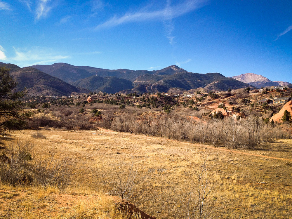 Over Manitou Springs  (Click to enlarge)