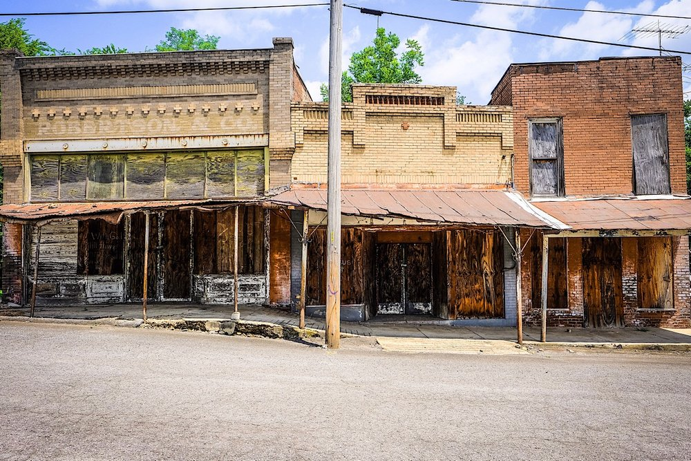 Main Street , one of my photographs of abandoned places in the mid-south featured in my new book.