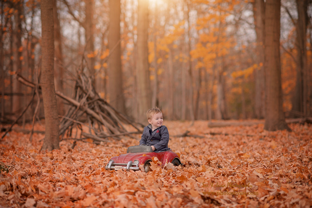 Beautiful Colorful Outdoor Kids Fall Photos