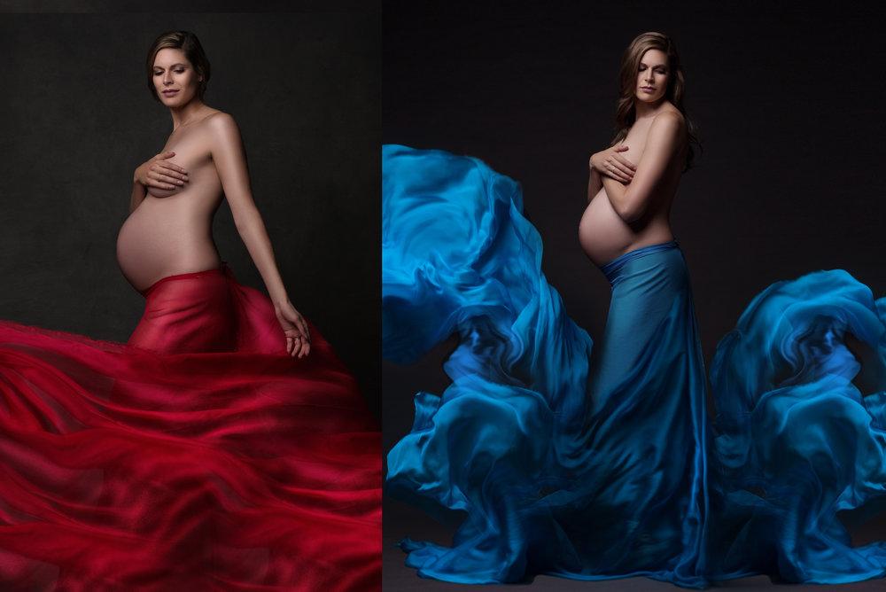 Chicago-Flowing-Silk-Pregnancy-Photographer