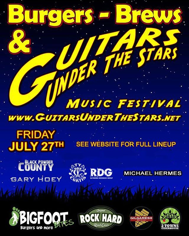 I'll be playing at Guitars Under the Stars on July 27th! Be sure to check out the full event from the 26th to 29th in Lebanon, Oregon. Website link in bio. 🎸#guitar #kieselguitars