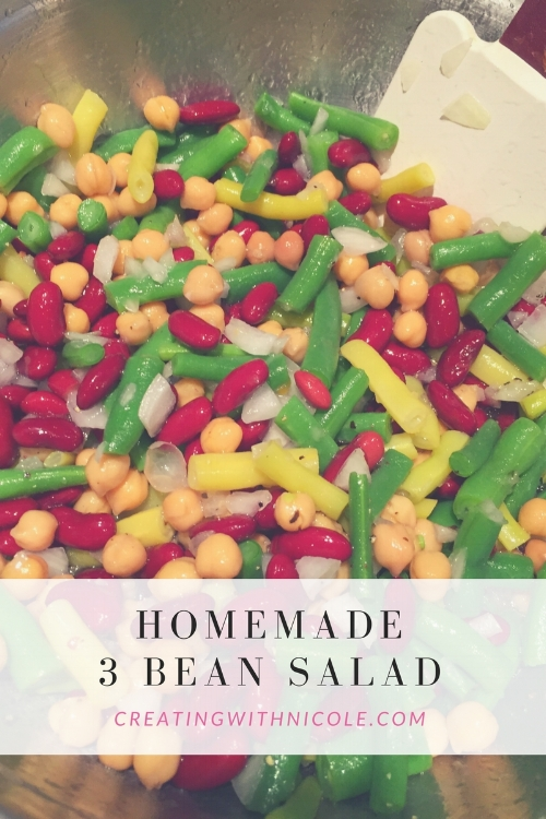 Homemade 3 bean salad
