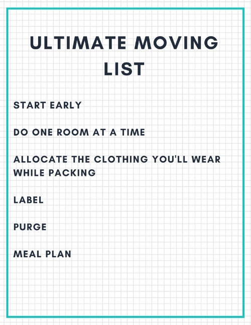 The Ultimate moving list