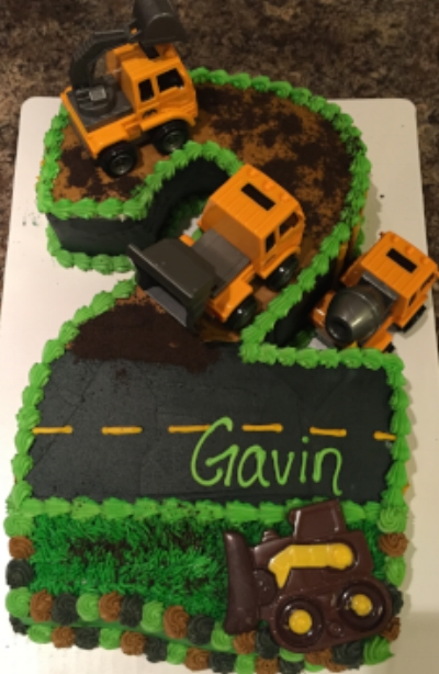 2 Birthday Cake equipped with trucks!