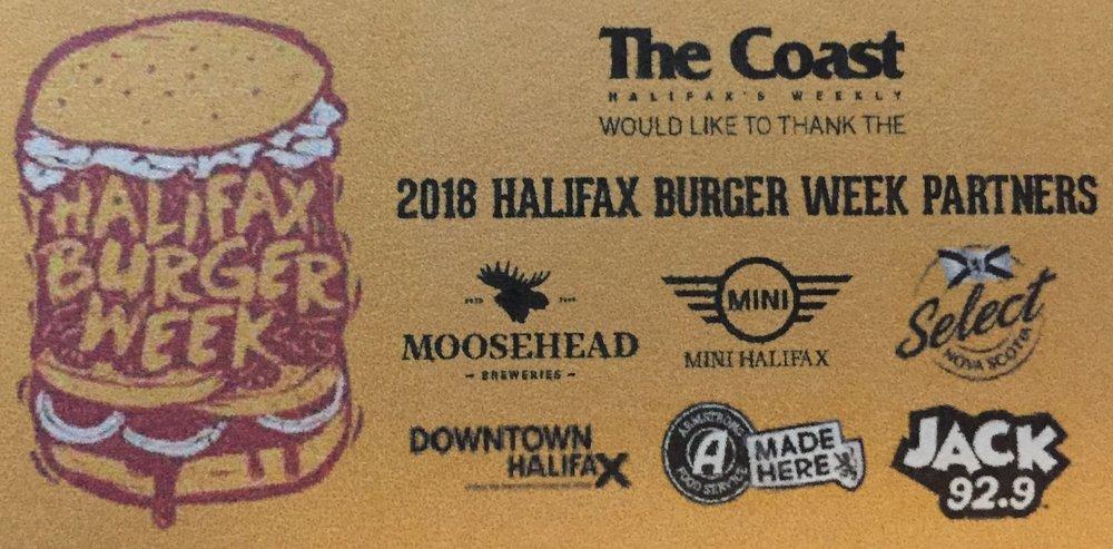Halifax Burger week 2018