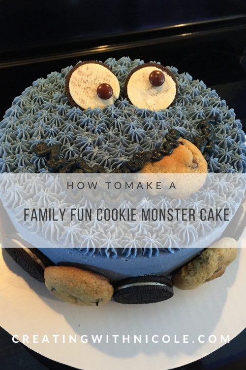How to make a cookie monster cake