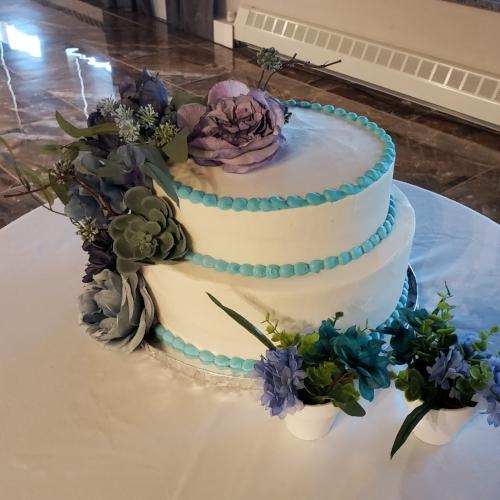 Succulent wedding cake