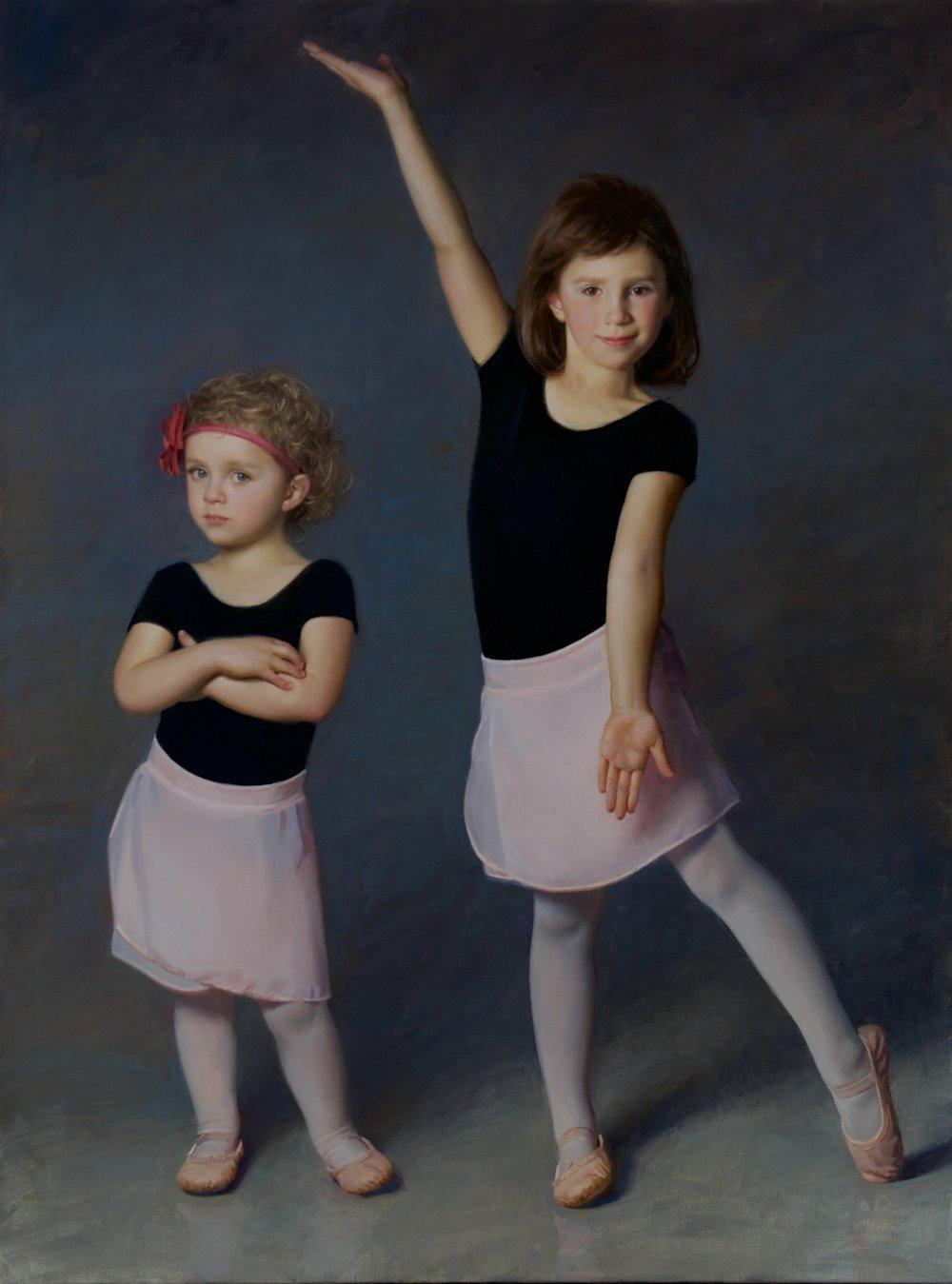 Sisters  40x30  Oil by James Tennison.jpg