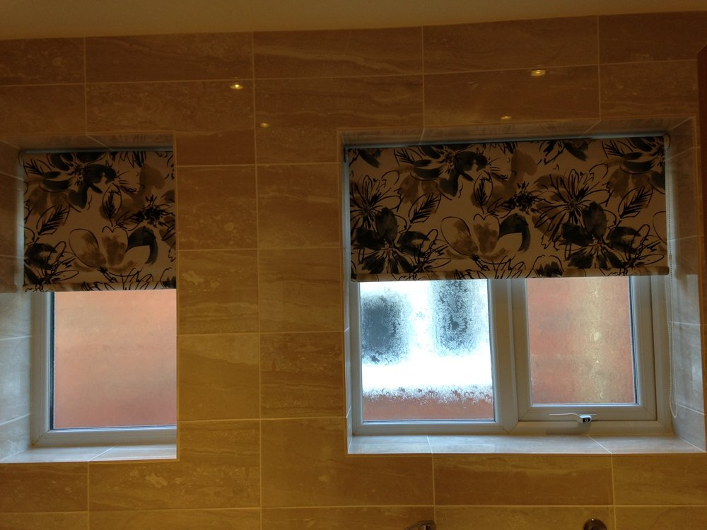 PVC fabric in a bathroom -