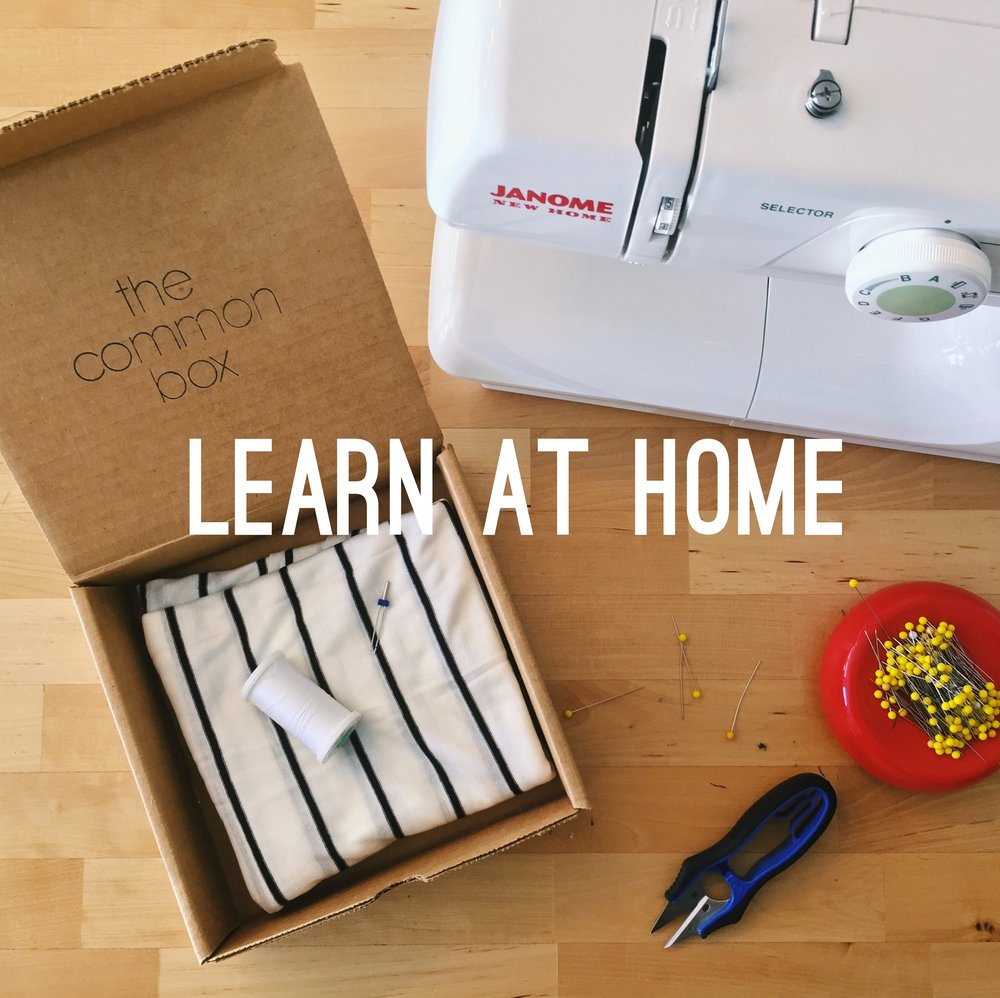 Learn to Sew online with the Common Box