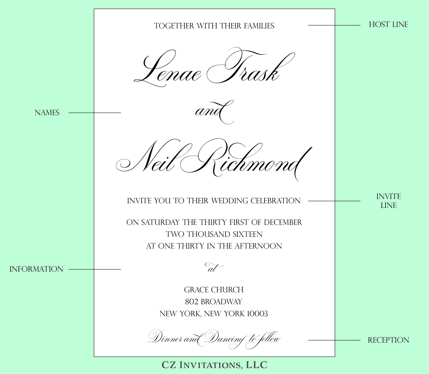 how to  wedding invitation wording  u2014 cz invitations