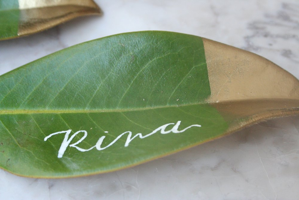 Gold-dipped-DIY-magnolia-leaf