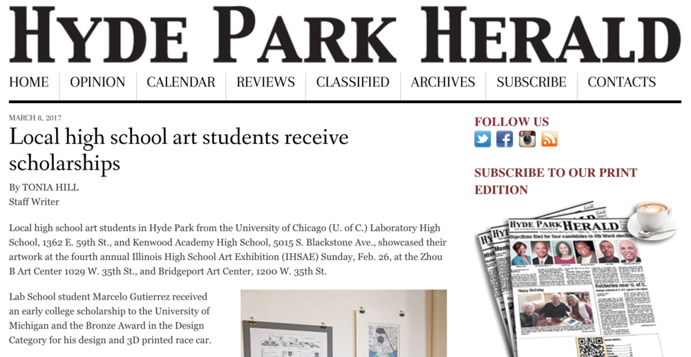 Exhibition Review via Hyde Park Herald