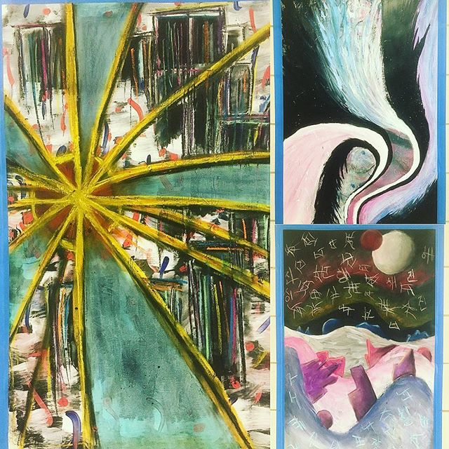 Some examples from an Art Foundations Class first project. Expressive Abstraction.