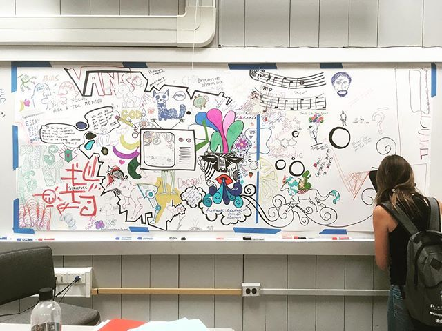 Collaborative doodle mural.
