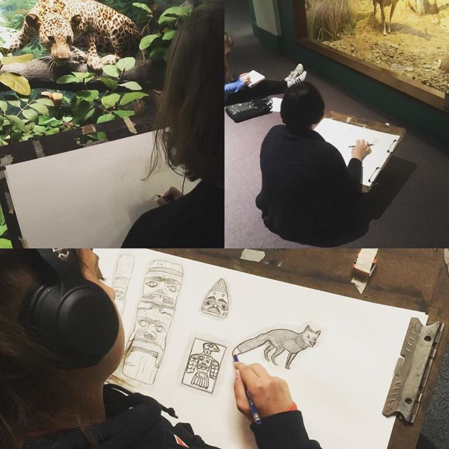 Such a great experience for student artists @fieldmuseum completing studies for an intro level collaborative totem project.