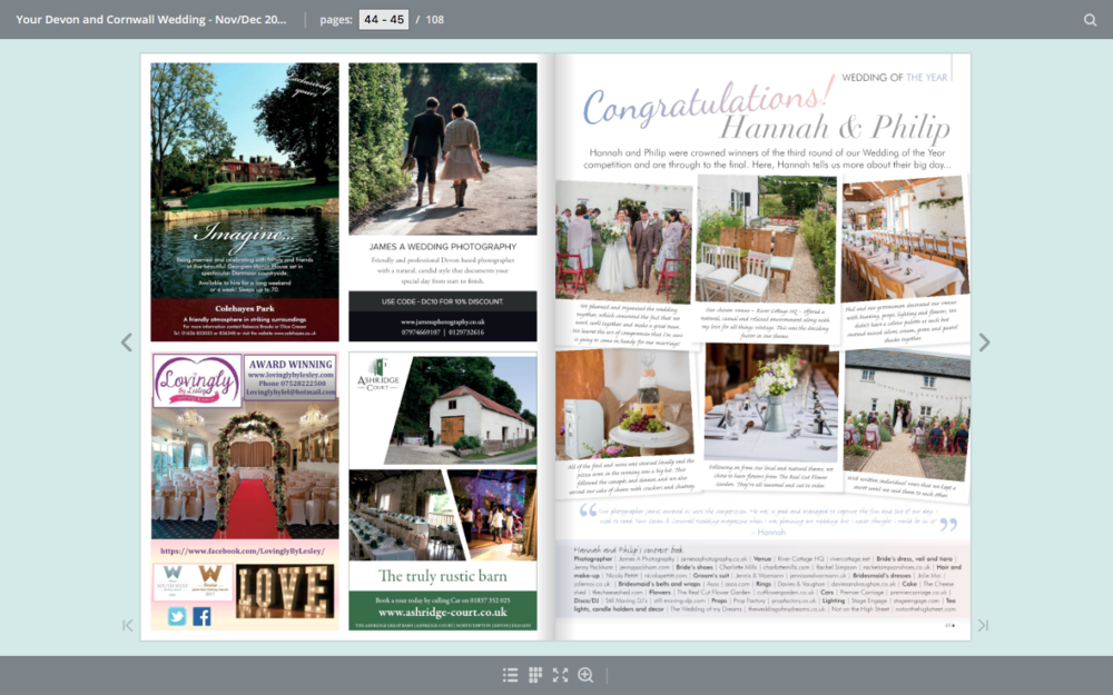 James A Wedding Photographer - Your Devon and Cornwall Wedding Magazine