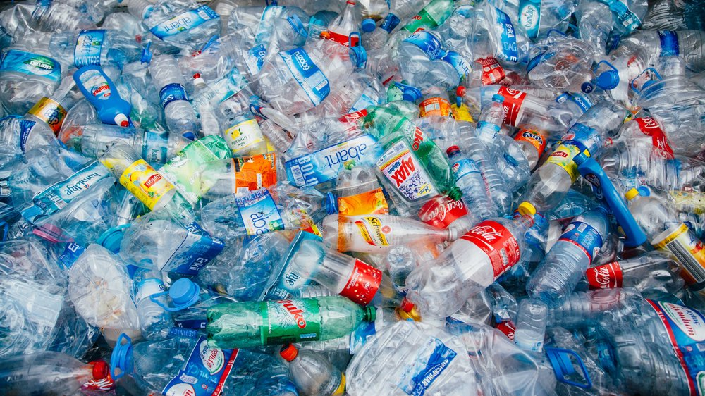 Plastic bottles pollution