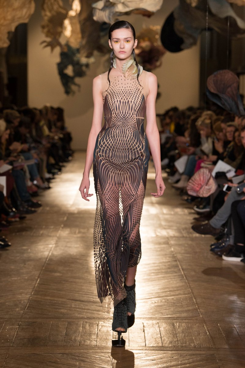 Data Dust Dress - Skills used:- Material Sourcing - Creating material- Placing of pieces on tulle