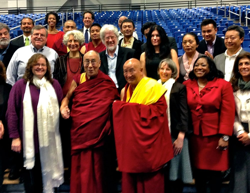 Eric Lewis and the Dalai Lama, Western Connecticut State University