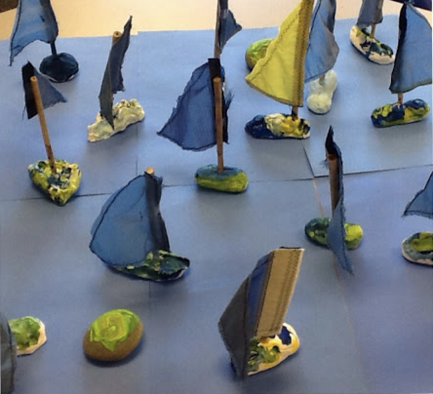 Blue Clay Boats