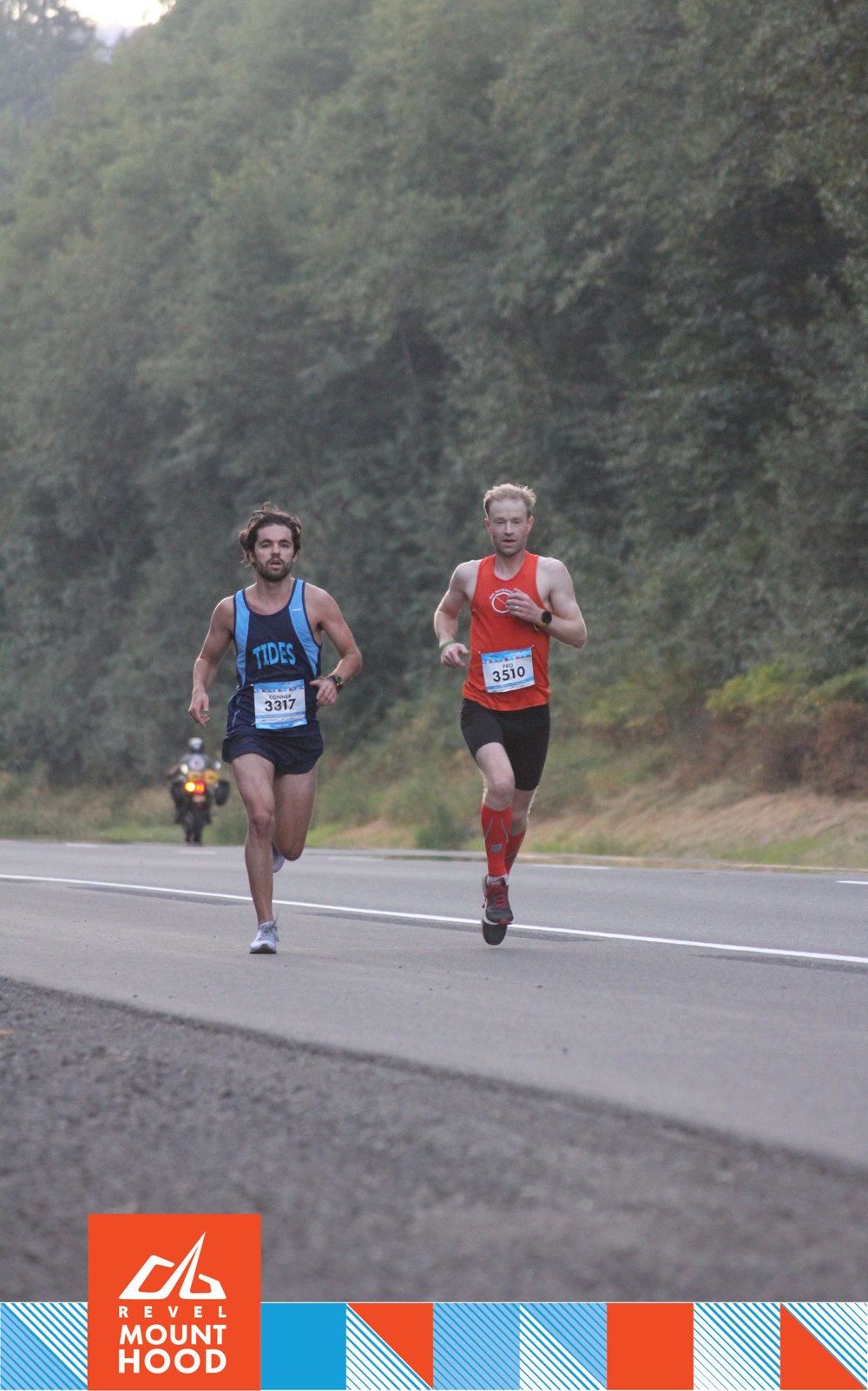 Phil Olson tackling the 2018 Revel Mt. Hood Half in preparation for Chicago