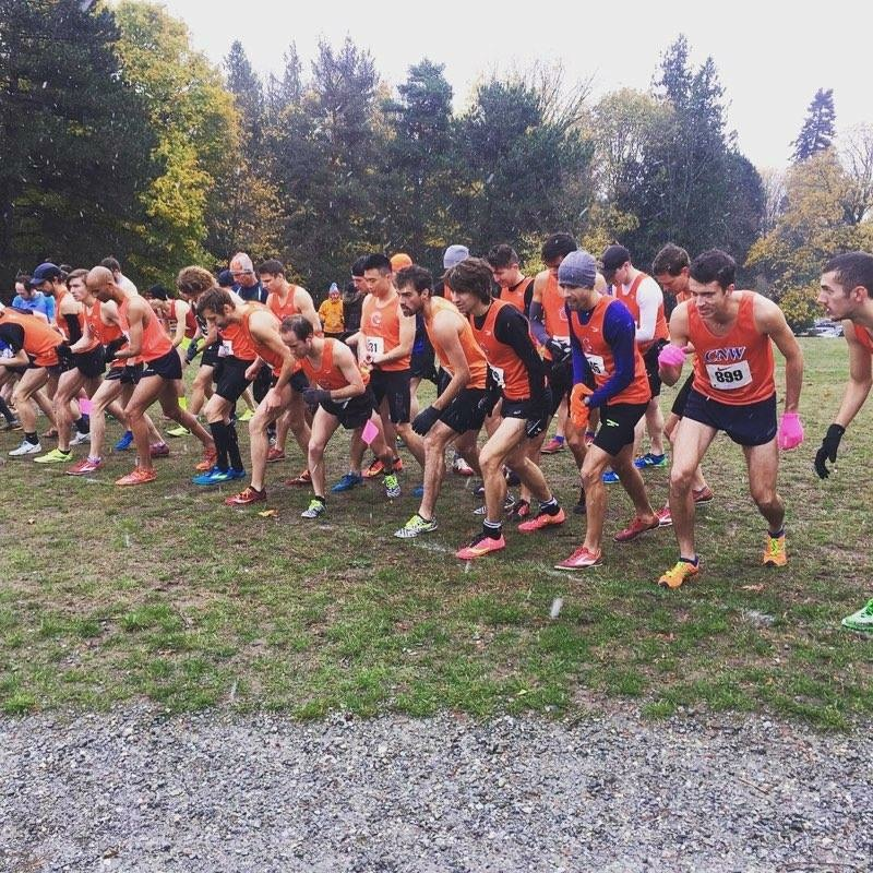 Club Northwest men fiercely toe the line!