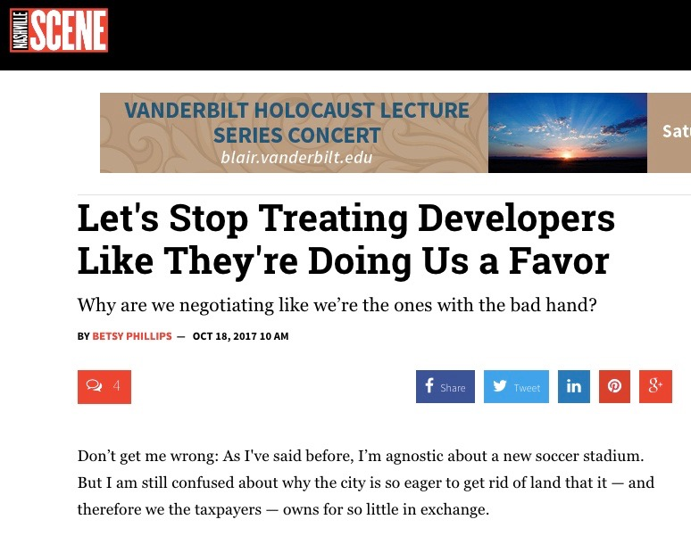 http://www.nashvillescene.com/news/pith-in-the-wind/article/20979732/lets-stop-treating-developers-like-theyre-doing-us-a-favor