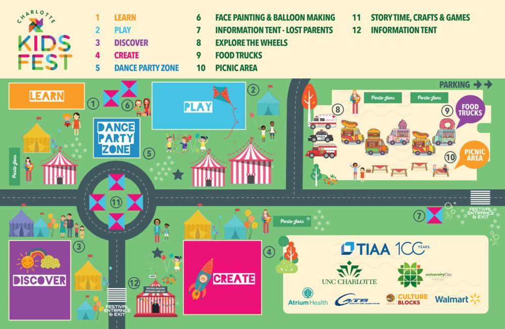 Charlotte Kids Festival Map