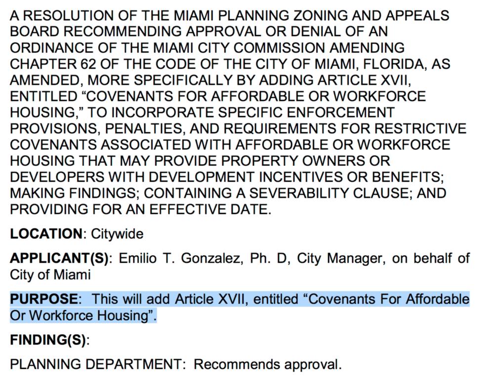 City of Miami Planning, Zoning & Appeals Board Agenda (PDF version)