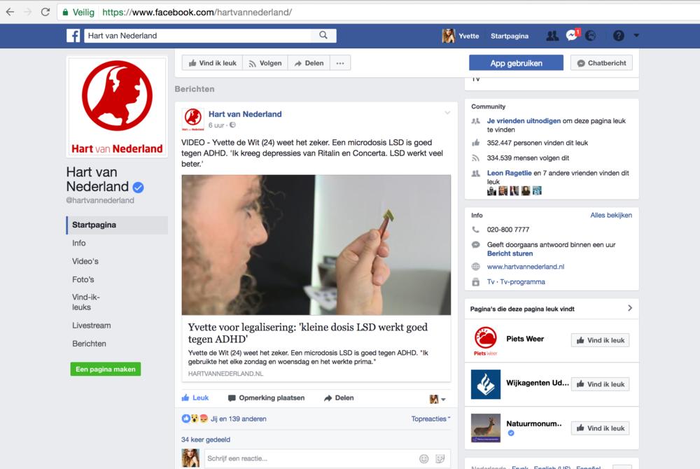 Hart van Nederland Facebook