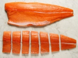 King Chinook Salmon - We can sell this fish Whole, in Fillets or cut into Steaks then vacuum sealed.   Call for the Best Price  (360) 640-2041