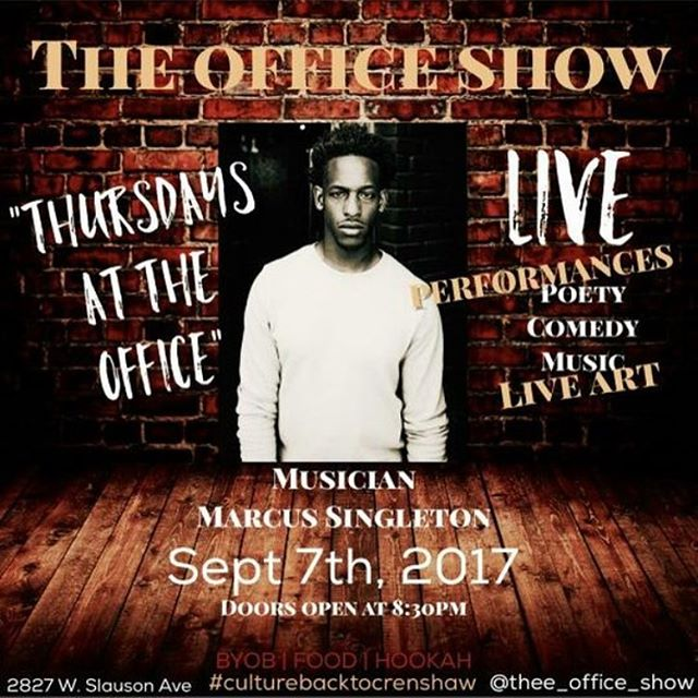 "i'm playing ""The Office Show"" this Thursday in Crenshaw 🎹 i'm all over town these days so if you're in the area come thru and vibe with your boy 🙌🏾 yo and shouts: @whateverkalea she's hella funny and she's going to be hosting! guaranteed good time! 