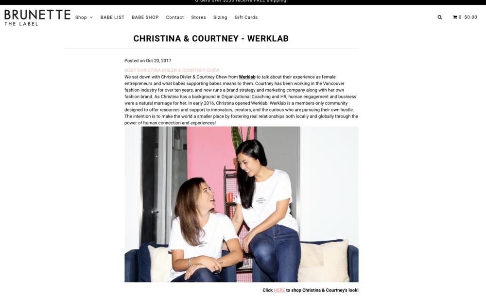 October 2017 - Brunette The Label