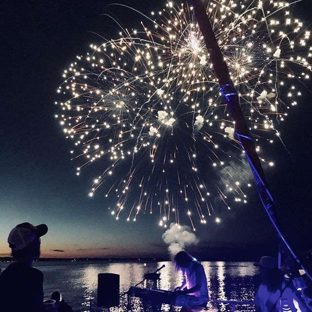 Who doesn't love to rock out and float with @nauticat_cruises  #cherryfestival #finale #fireworks #party 📸:@aba.griff