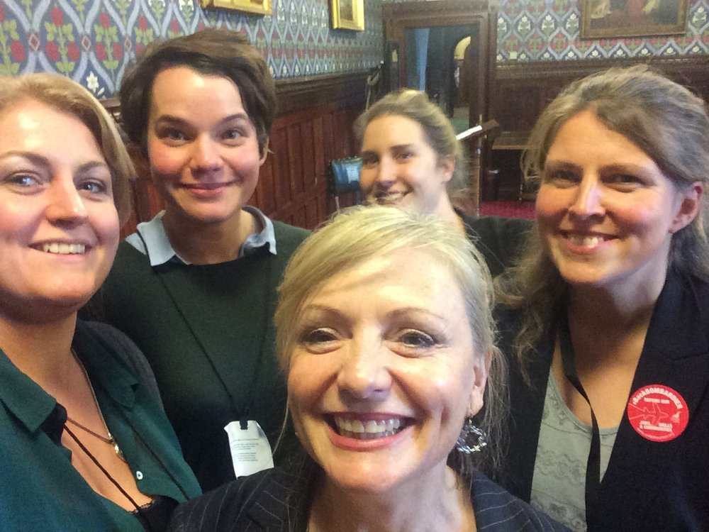 Left - right: Hannah Davies, Eleanor Rhode, Tracy Brabin MP, Kate Pilling, Rachael Maskell MP.