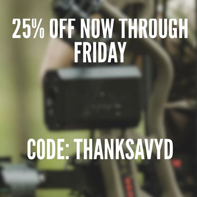 Black Friday sale starts now! Use discount code: THANKSAVYD at checkout to get 25% AVYD and free shipping. Store link in bio. And, congrats to our giveaway winners @dave_goose2 @haydenrogers12342 and @gtate_11 #getavyd #bowhunters #bowhunter4life #bowhuntordie #bowhuntingwhitetails