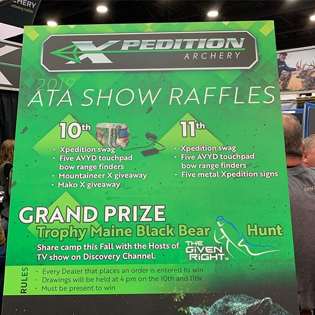 if your at ATA make sure you stop by the Xpedition booth for a chance to win an AVYD. Also, that Xpedition Mako X is sick!!!! #getavyd #bowhunters #bowhunter4life #bowhuntordie #ata2019