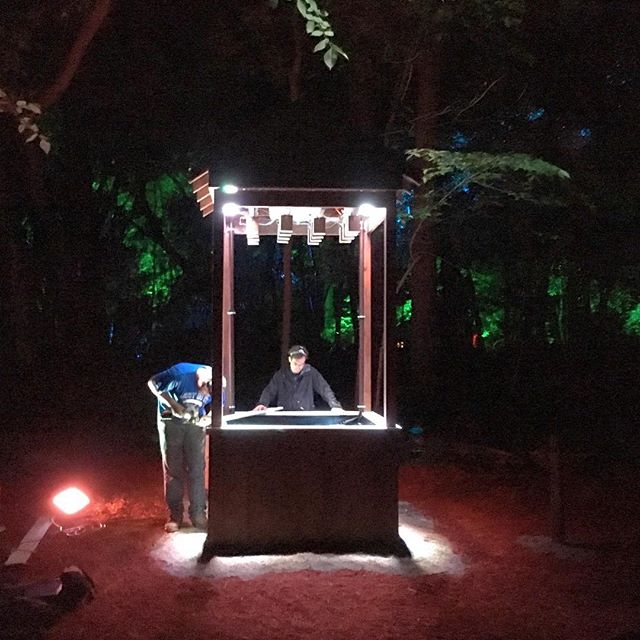Goodnight @eauxclaireswi Day one was great. We'll see you tomorrow. #eauxclaireswi #soundsculpture #fluidprocess #soundart #installationart #interactiveart #sculpture #eauxclaires #troix #watermusic #pickupmusic #eauxclaires